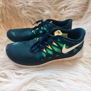 Nike Free 5.0 Nightshade Turbo Green